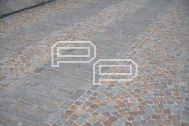 Pavimento in cubetti di porfido